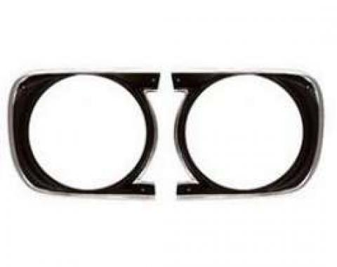 Camaro Headlight Bezels, For Cars With Standard Trim (Non-Rally Sport), Left & Right, 1968
