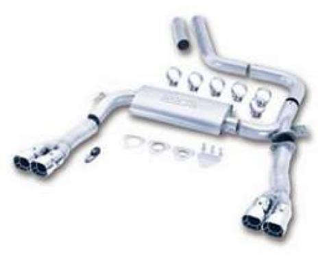 Camaro Exhaust System, 3 Cat Back Adjustable, V8, Borla, 1998-2002