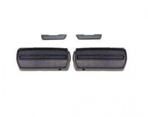 Camaro Armrest Kit, Front, Standard Interior, Black, 1968-1969