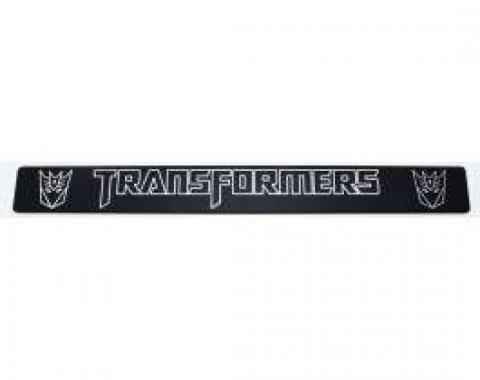 Camaro Transformers Decepticon Logo, Black Billet, Door Sills, 2010-2013