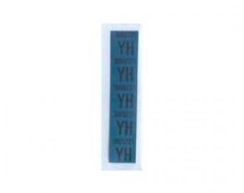 Camaro Coil Spring Tape Decals, Code YH, Big Block, 1969