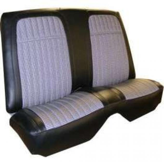 Distinctive Industries 1969 Camaro Deluxe Houndstooth Coupe Rear Seat Upholstery 072716