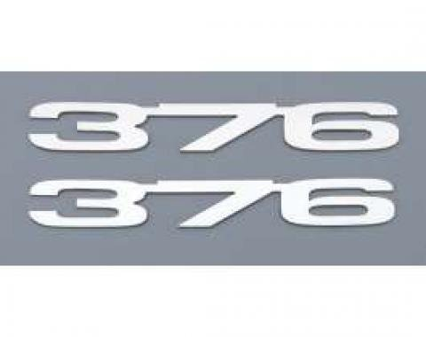 Camaro Cowl Induction Hood Emblems, 376 (LS3), Stainless Steel