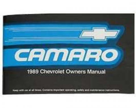 Camaro Owner's Manual, 1989