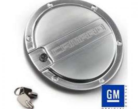 Camaro Fuel Door, Satin, Camaro Logo, 2010-2014