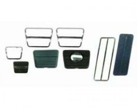 Camaro Pedal Pad & Trim Kit, For Cars With Front Disc Brakes & Manual Transmission, 1967-1968