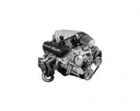 Camaro Vintage Air Front Runner Serpentine System, Big Block, With Power Steering, Black Hard Coat Pulleys & Brackets