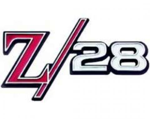 Camaro Grille Emblem, Z28, For Cars With Standard (Non-Rally Sport) Grille Or With Rally Sport (RS) Grille, 1969