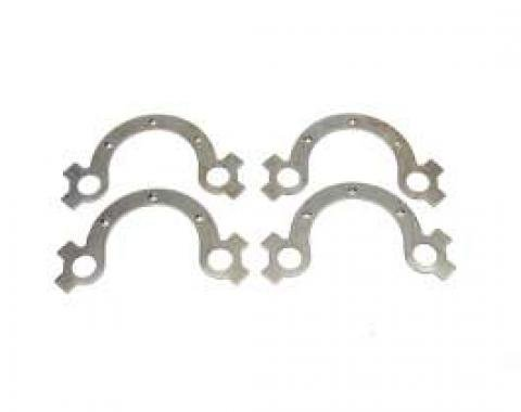 Camaro Exhaust Manifold Bolts French Lock Set, Small Block, Steel, 1967-1969