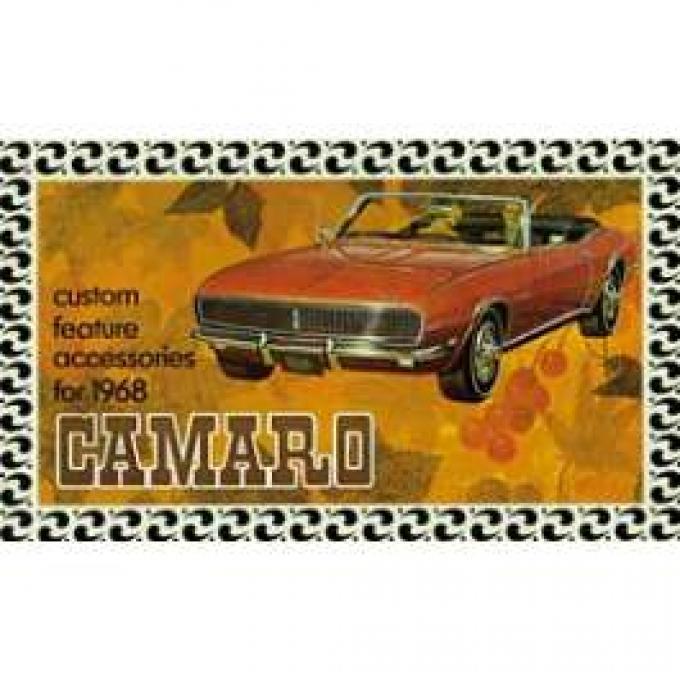 Camaro Custom Feature Accessories Booklet, 1968