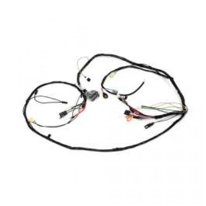 Camaro Front Lighting Wiring Harness, V8, Rally Sport (RS),For Cars With Gauges, 1968