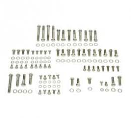 Camaro Engine Bolt Kit, Small Block, Stainless Steel, For Cars With Stock Exhaust Manifolds, 1967-1969
