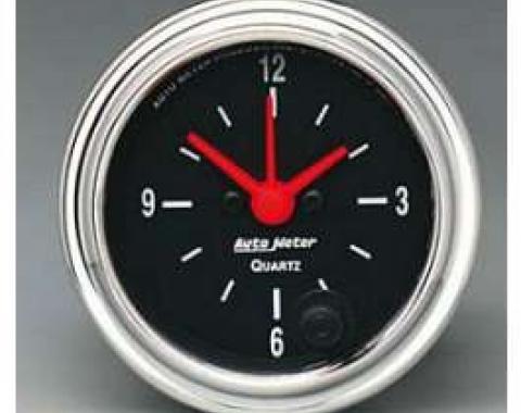 Camaro Clock, Chrome, AutoMeter