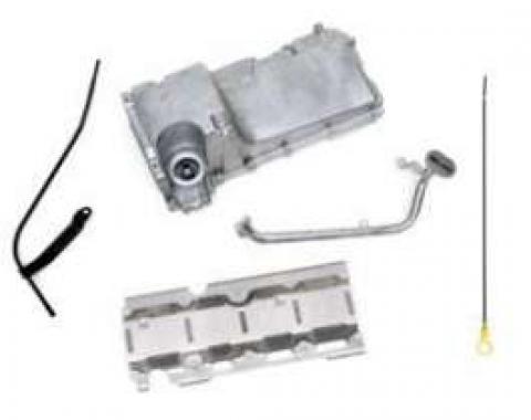 Camaro Engine Oil Pan Kit, Aluminum, For LS1, LS2 & LS6 Engines, 1967-1981