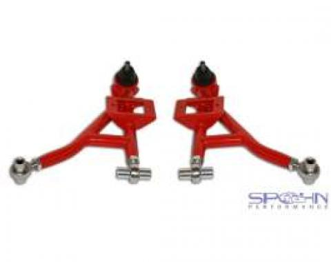 Camaro Lower Tubular Control Arms, With Rod End Bushings, Spohn, Steel, 1993-2002