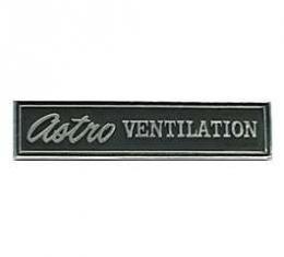 Camaro Dash Nameplate, Astro Ventilation, Left, 1969-1970