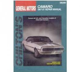 Camaro Book, Chilton's Repair Manual, 1967-1981