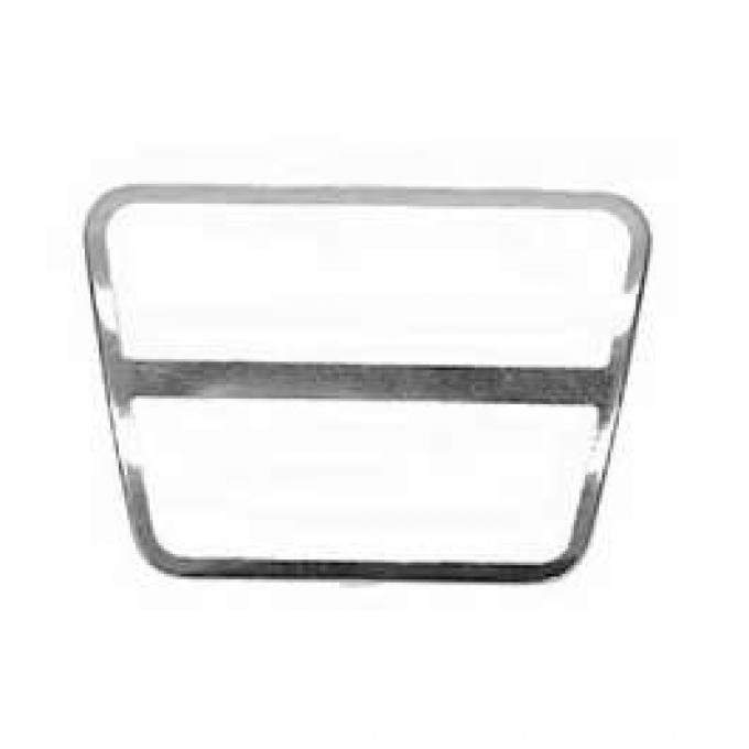 Camaro Brake & Clutch Pedal Pad Trim, For Cars With Manual Transmission, 1967-1981