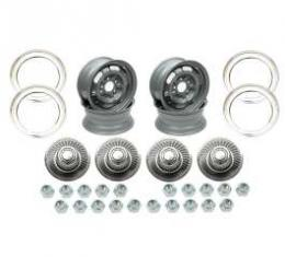 Camaro Rally Wheel Kit, 14 x 6, Complete, 1968-1969