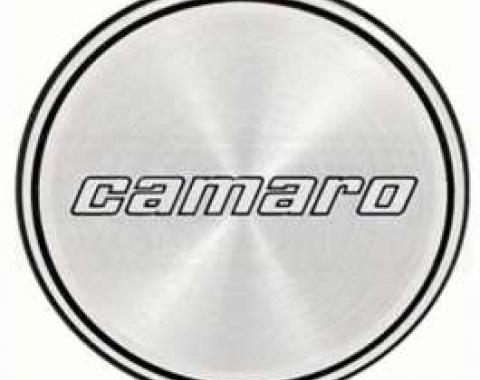 Camaro Hub Cap Insert, Base Model, Black And Black Rings, Second Design, 1980