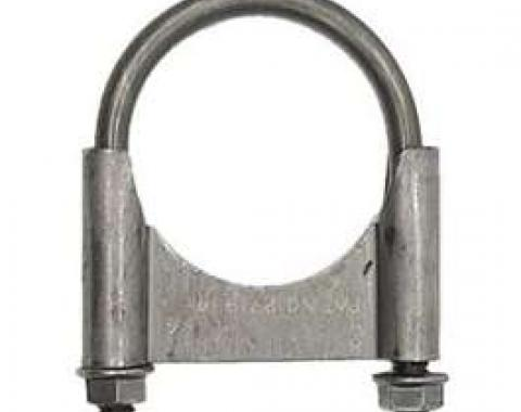 Camaro Exhaust Muffler Clamp, Guillotine Style, Steel, 2-1/4, 1967-1969