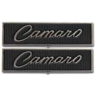 Camaro Door Panel Emblems, Standard Interior, 1968-1969
