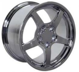 Camaro 18 X 9.5 C5 Style Deep Dish Reproduction Wheel, Chrome, 1993-2002
