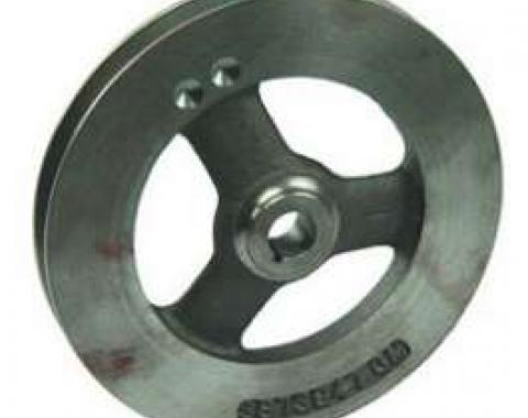Camaro Power Steering Pump Pulley, 302ci & 396/375hp, 1967-1968, 396/325-350hp, 1968, Deep Single Groove, Cast Iron