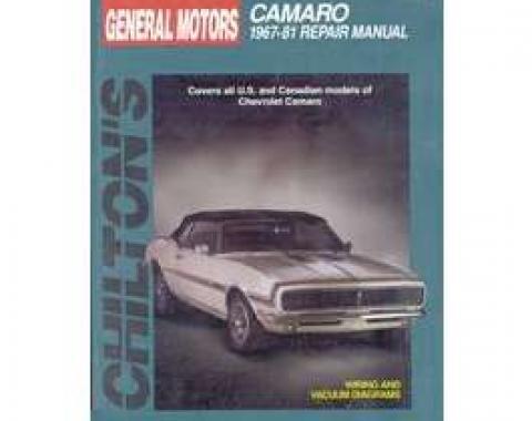 Camaro Book, Chilton's Repair Manual, 1967-1981