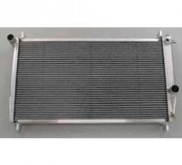 Camaro Radiator, Polished, Aluminum, For Cars With Automatic Transmission, Be Cool, 1982-1992