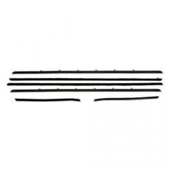PUI Standard Outer Windowfelt Weather Strip Kit 1968 Camaro Hardtop F236-10