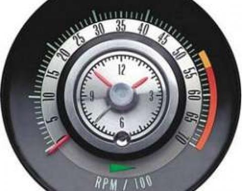 Camaro Clock & Tachometer, Tic-Toc, 5500 RPM Redline, 1968