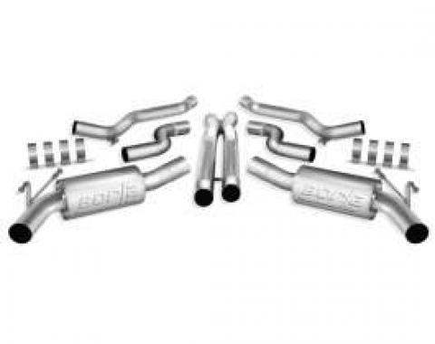 Camaro Exhaust System, Borla S Type Cat-Back, 6.2L, 2010-2013
