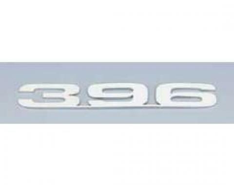 Camaro Hood Emblems, 396, Stainless Steel, 1967-1969
