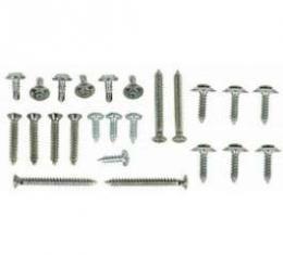 Camaro Armrest Screw Kit, Rear, Coupe, 1967-1969