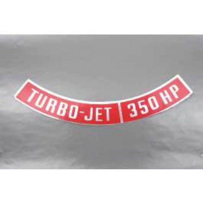 Camaro Air Cleaner Decal, Turbo-Jet 350 HP, 1968-1969