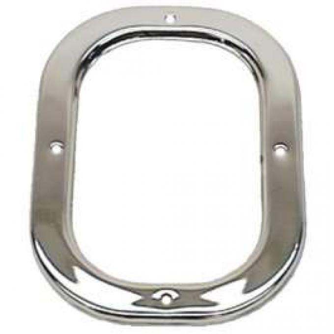 Camaro Shifter Boot Retainer Plate, Manual Transmission, Chrome, For Cars Without Console, 1969