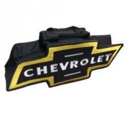 Chevy Bowtie Shaped Canvas Bag, Black & Yellow