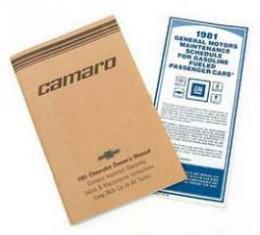Camaro Owner's Manual, 1981