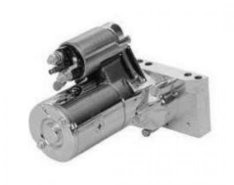 Camaro Engine Starter, Gear Reduction, Chrome, 1967-1969