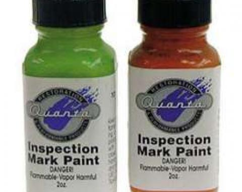 Camaro Chassis Inspection Marking Paint Set, Light Green & Orange, 1967-1969