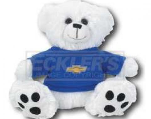 Chevy Themed Plush Stuffed White Teddy Bear