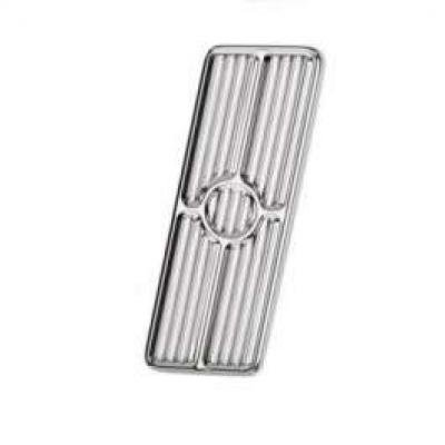 Camaro Gas Pedal Pad, Polished Aluminum, Billet Specialties, 1967-1969