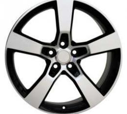 Camaro SS Style Machine Black 20 X 9 Replica Wheel, 2010-2013