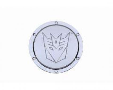 Camaro Transformers Deception Logo, Chrome Billet, Non-Locking 2010-2013