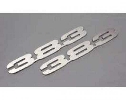 Camaro Hood Emblems, 383, Stainless Steel, 1967-1969