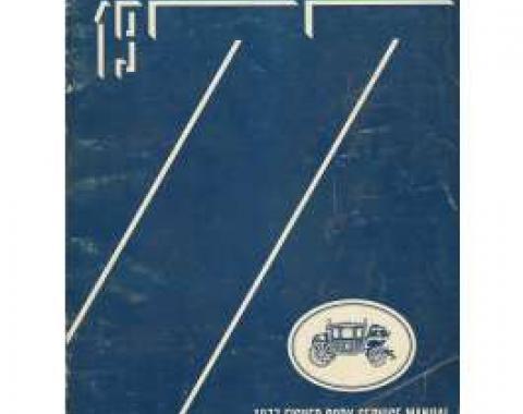 Camaro Fisher Body Service Manual, 1977