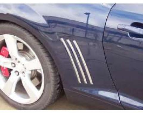 Camaro Side Vent Inserts, Polished, 2010-2013