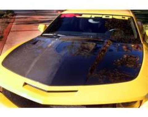 Camaro Hood, Carbon Fiber, With Clear Window, 2010-2013