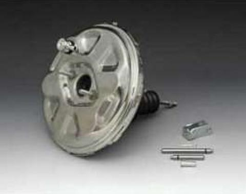 Camaro Power Brake Booster, Polished Stainless Steel, 1970-1972